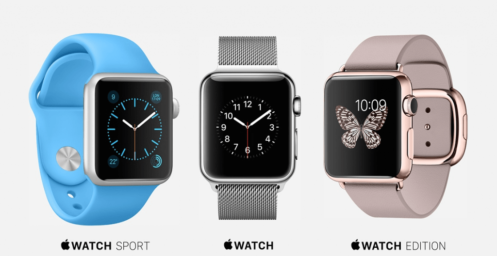 L'Apple Watch existe dans trois versions.