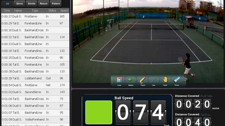 playsight filme et analyse les matchs de tennis