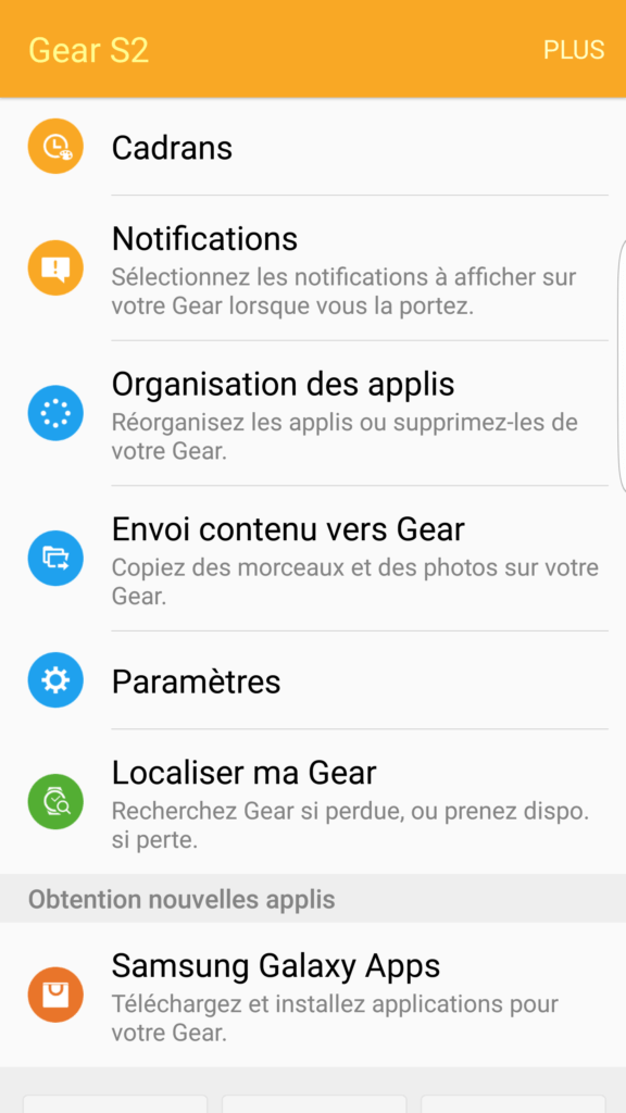 Application Samsung Gear