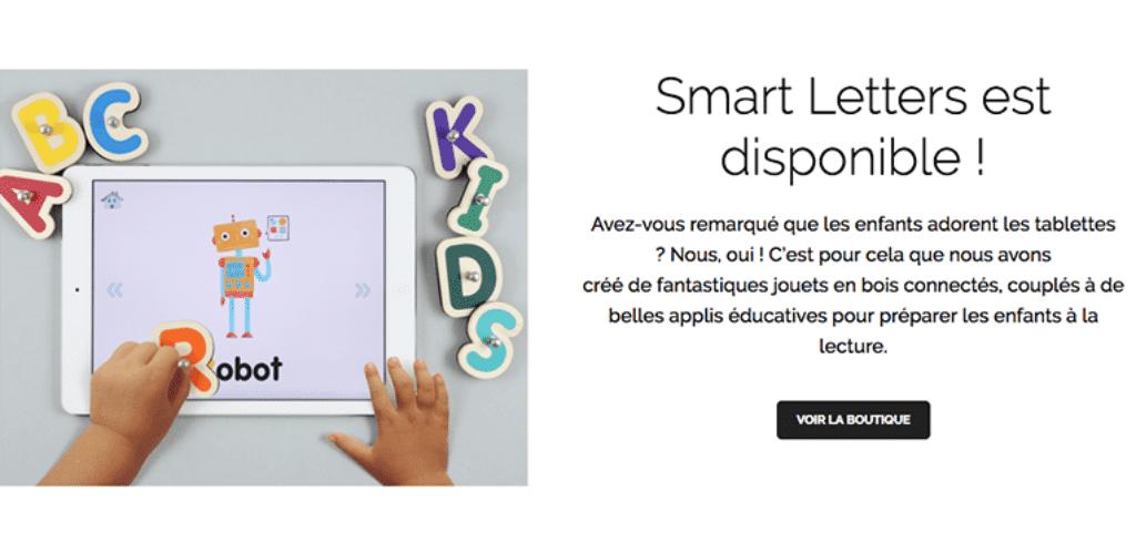 smart letters jouets connectés en bois