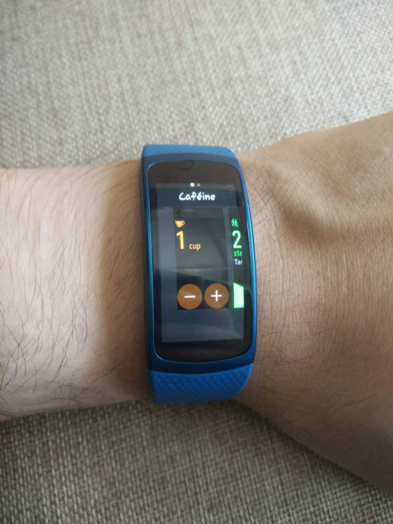 Widget sur la Samsung Gear Fit 2