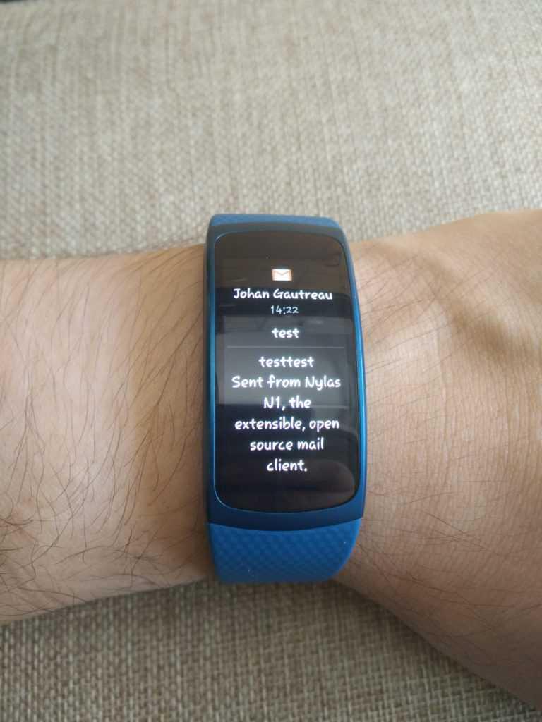 Le Gear Fit 2 peut afficher le contenu de vos mails et notifications.