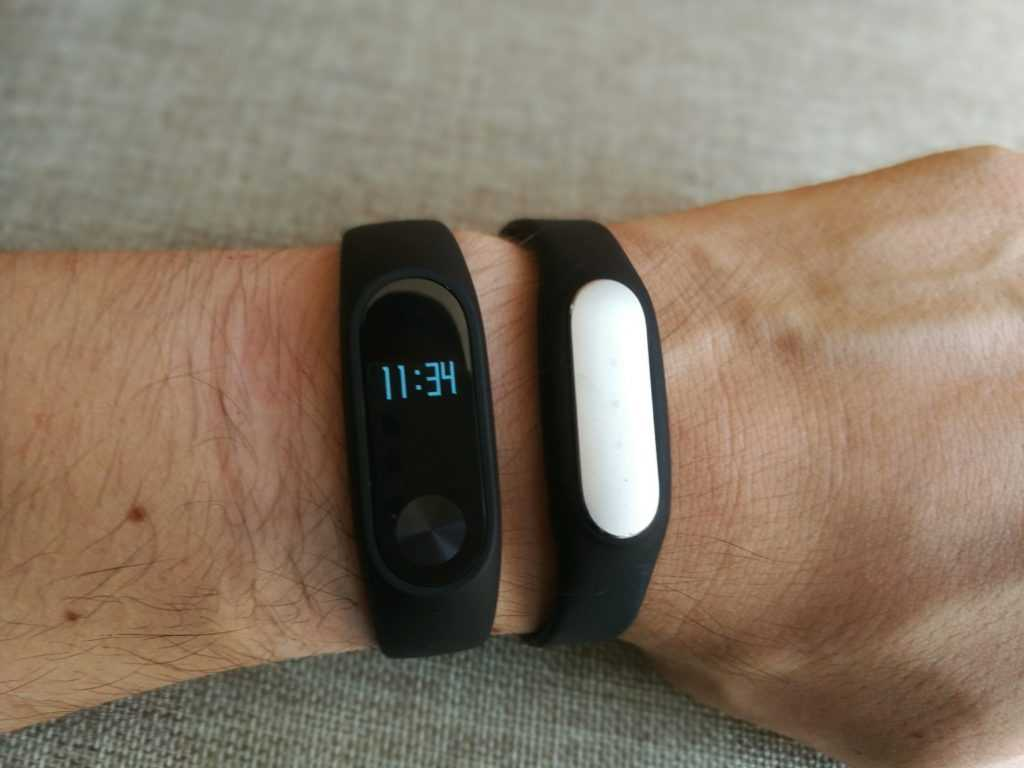 Comparatif MiBand 2 et MiBand 1S