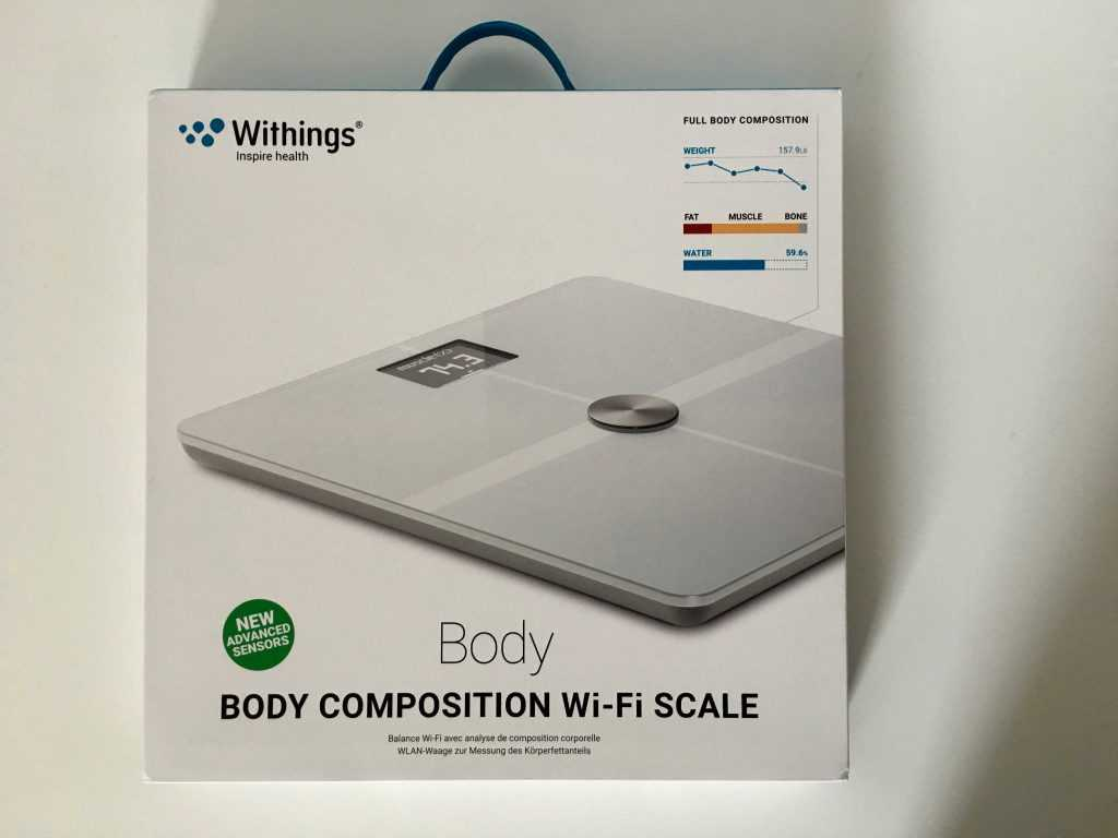 Emballage de la Withings Body