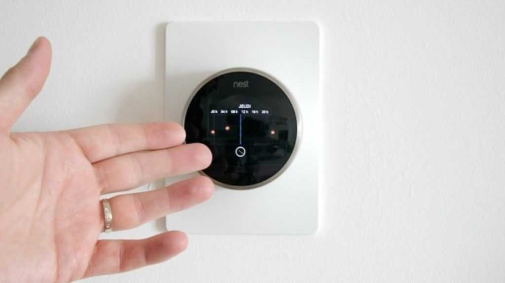 Thermostat Nest de face