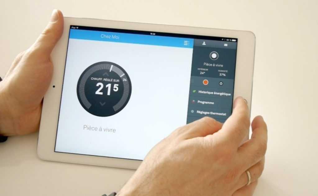 Transcription de la température sur iPad