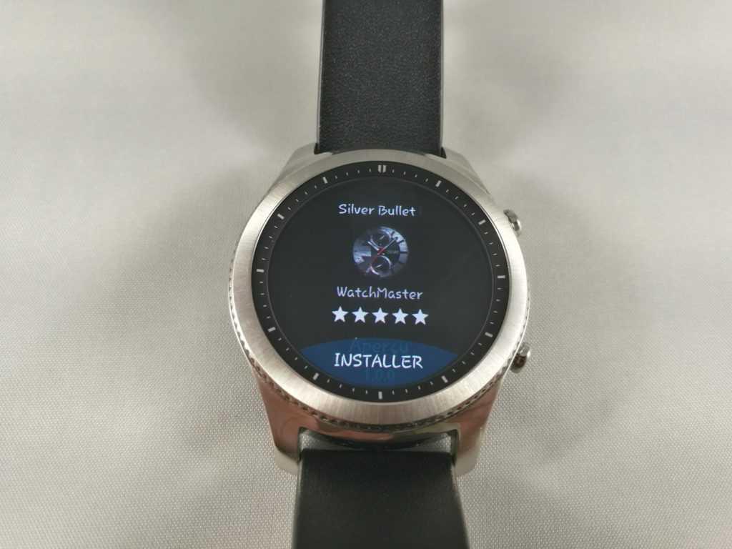 Il est possible d'installer des applications et cadrans depuis la montre. Pratique mais pas encore complet à 100%.