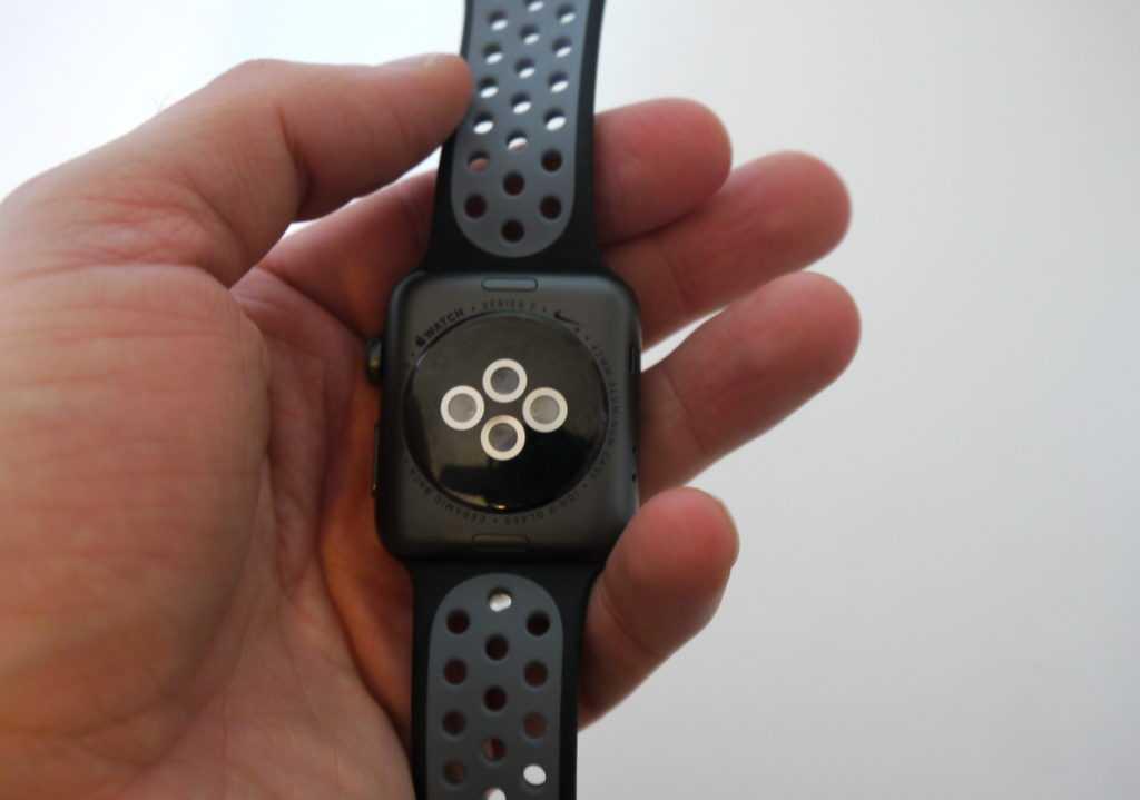 dos de l'Apple Watch Séries 2 en céramique