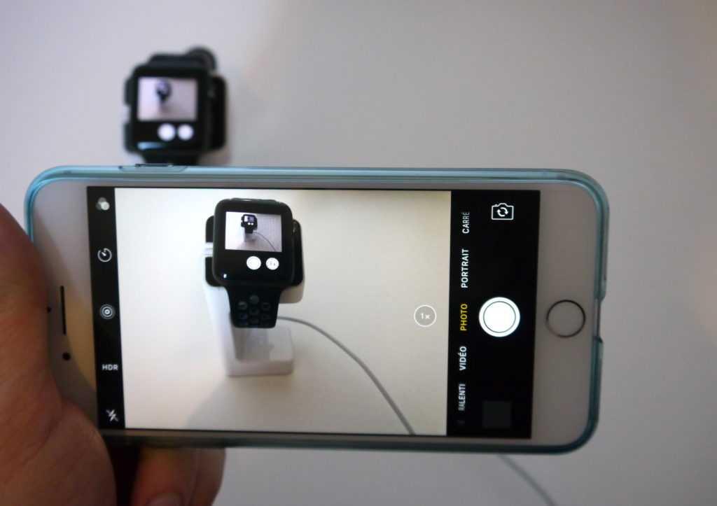 photo via l'iPhone et Apple Watch Séries 2