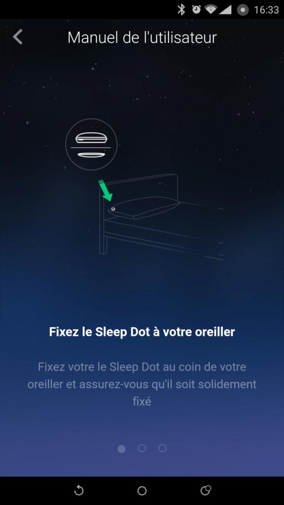 Un tuto vous indiquera comment utiliser le traqueur de sommeil.