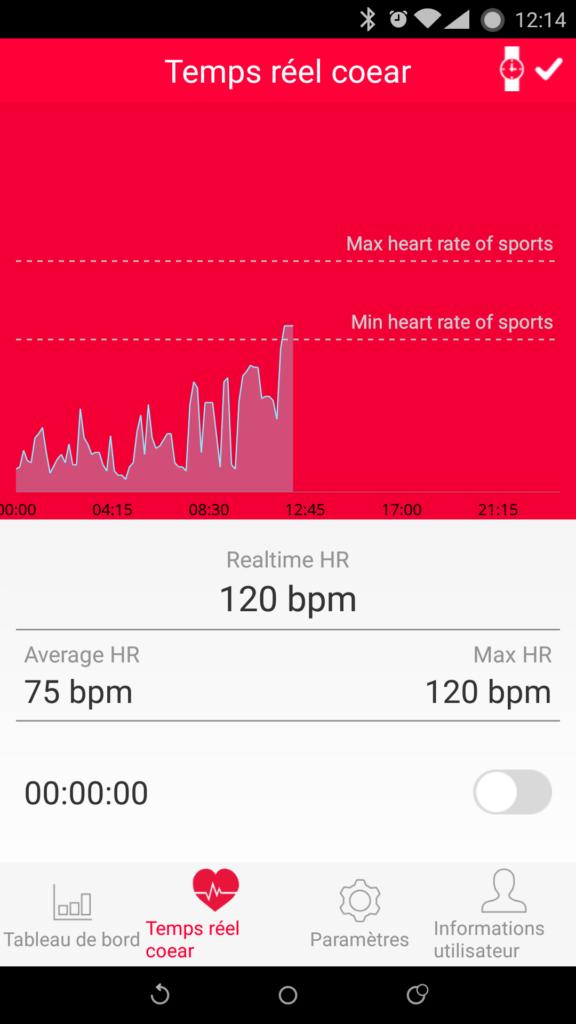 Le traqueur peut suivre votre rythme cardiaque en continu.