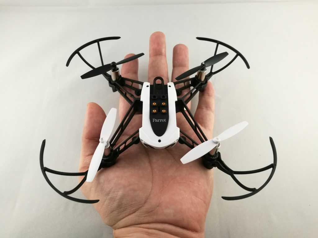 Le drone de Parrot tient dans la main.