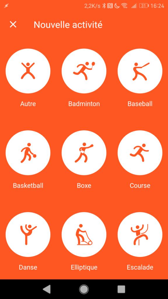 La montre connectée peut apprendre une multitude de sports différents.