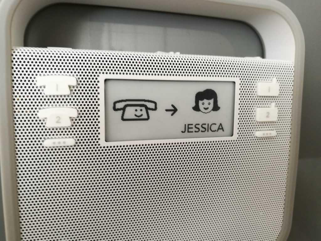 L'appel vers un contact ne demande qu'une pression sur un bouton. Simple et efficace !