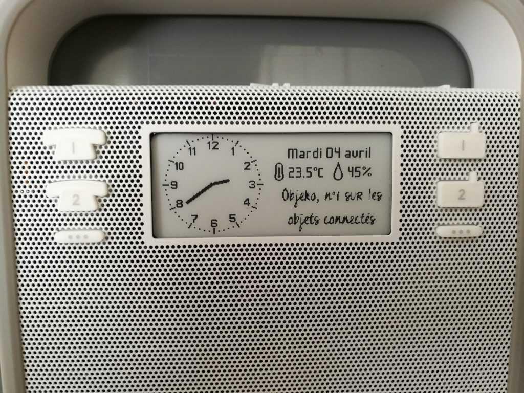 Boutons de la radio Triby
