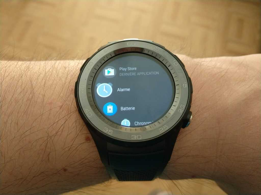 Liste applications Android Wear 2