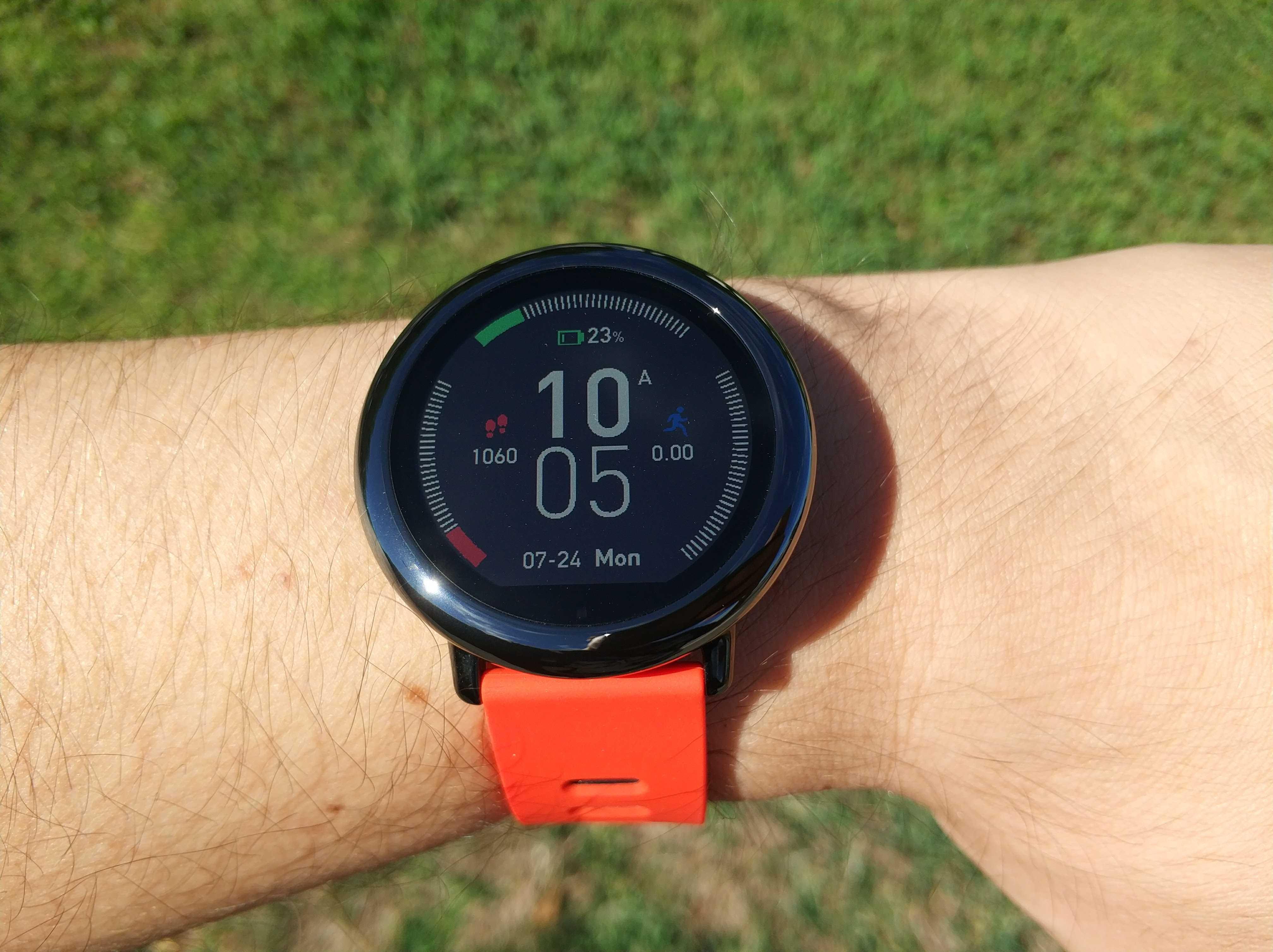 Test de l'Ecran sur la montre Xiaomi Pace