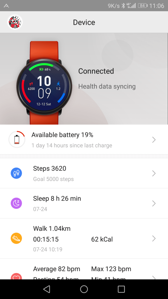 Application Amazfit Watch