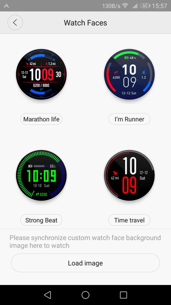 Cadrans montre connectée Xiaomi Amazfit Pace