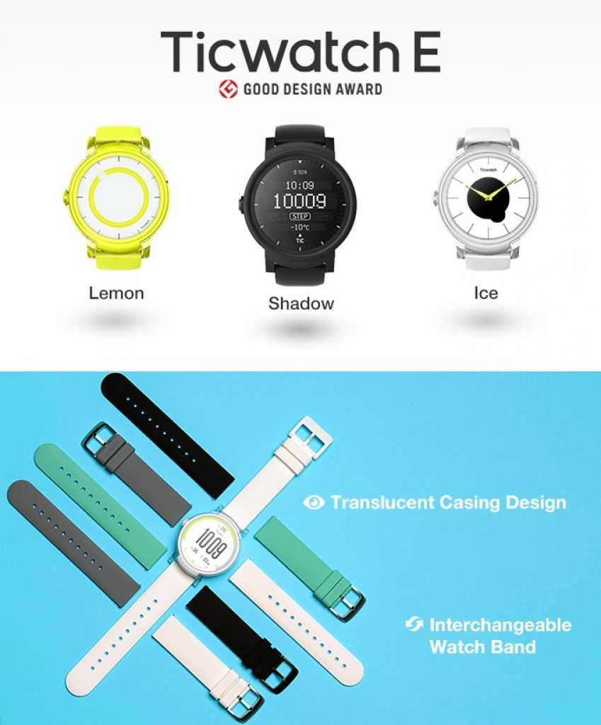 Ticwatch E montre connectée
