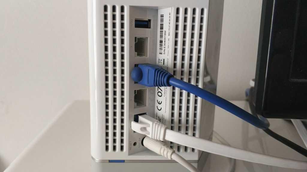 Connectique routeur Sense