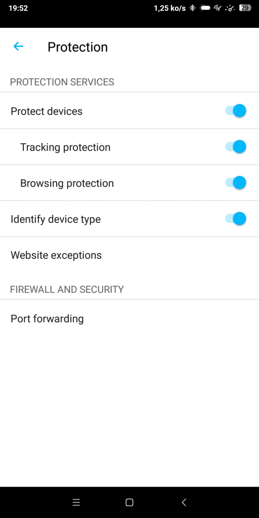 Protection application Sense F-Secure