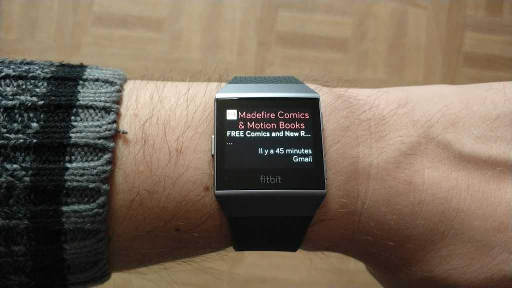 Notification GMail sur Fitbit Ionic