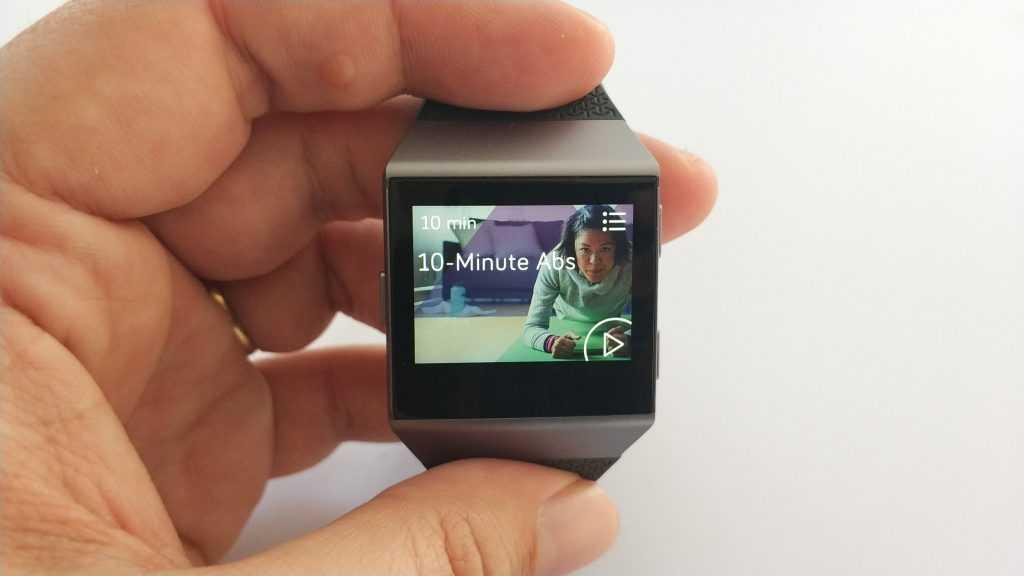 Vidéo exercice sur montre Ionic
