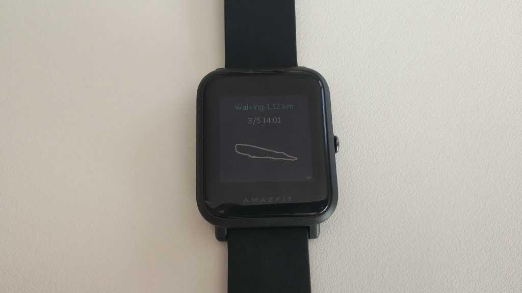 Affichage route GPS sur Amazfit Bip