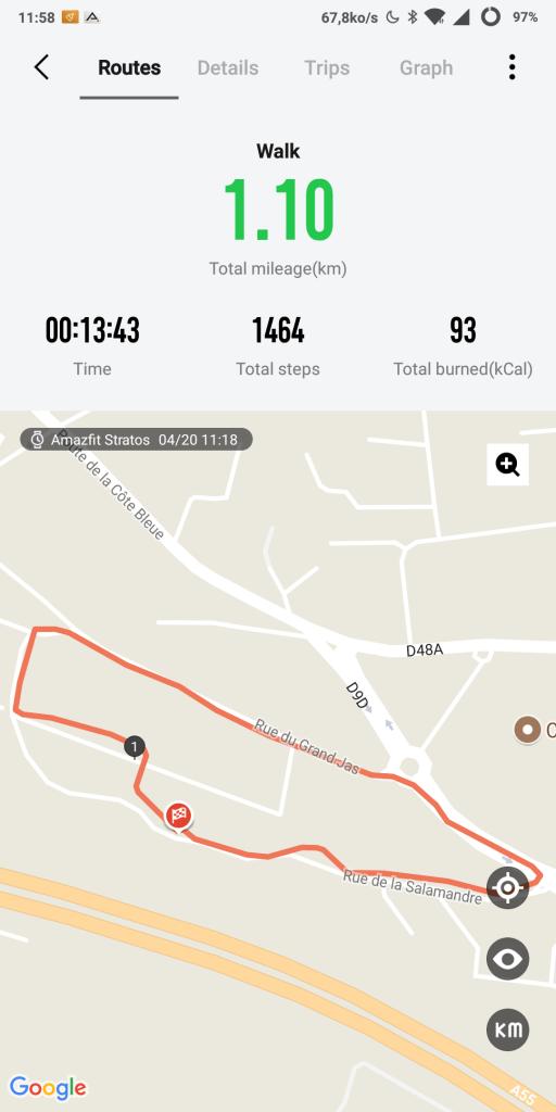 Suivi GPS sur montre Xiaomi
