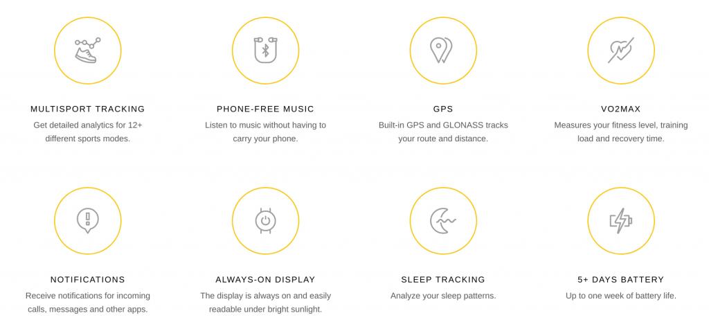 Spécifications montre sport Xiaomi Stratos