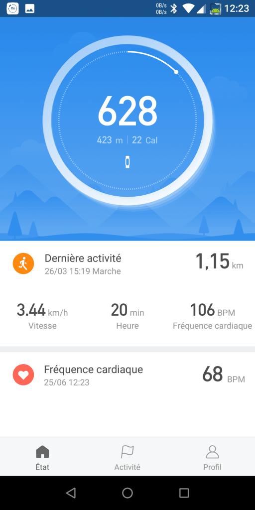 Application Mi Fit Xiaomi