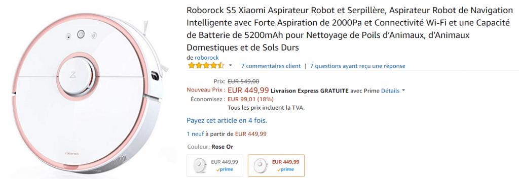 Bon plan aspirateur robot Xiaomi