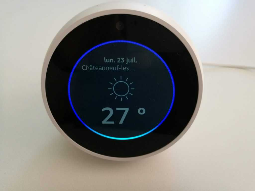 Ecoute vocale Amazon Echo Spot