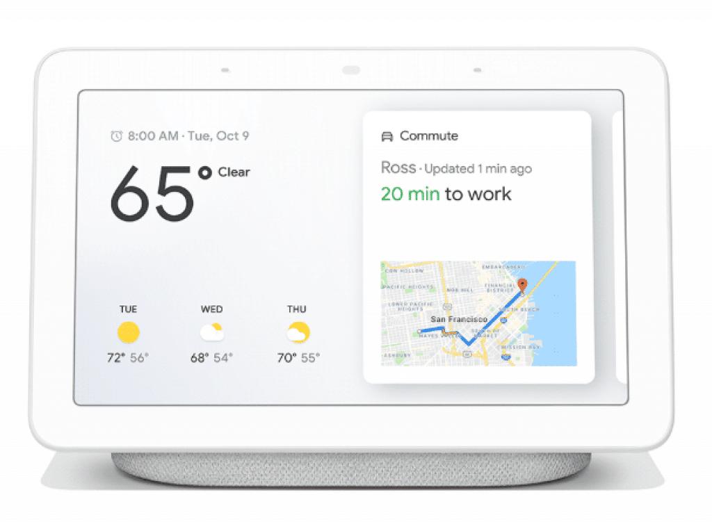 google home hub l 39 cran connect pour la maison est. Black Bedroom Furniture Sets. Home Design Ideas