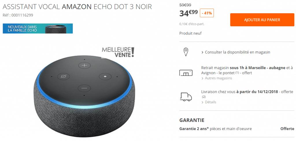 Bon plan Amazon Echo Dot