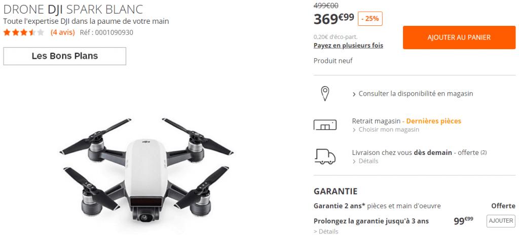 Bon plan drone DJI Spark