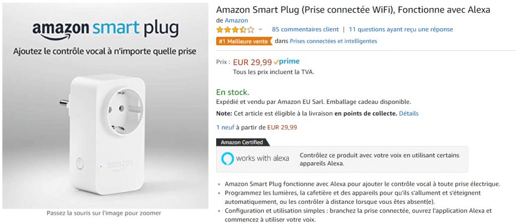 Prise connectée Amazon Smart Plug