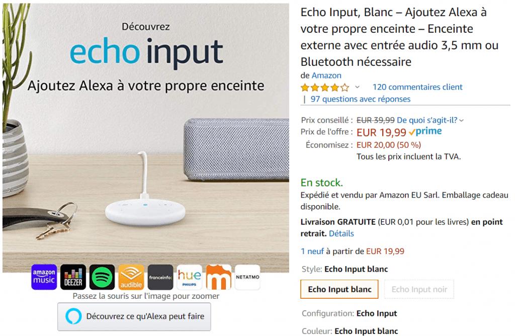 Bon plan Echo Input