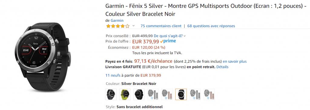 French Days Garmin Fenix 3