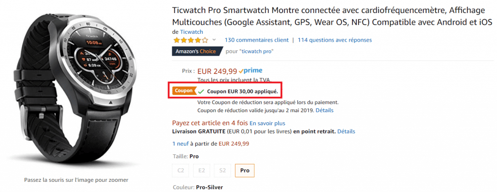 French Days TicWatch Pro