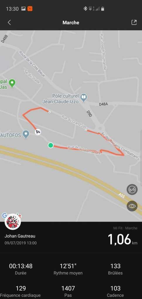 Suivi GPS MiBand 4