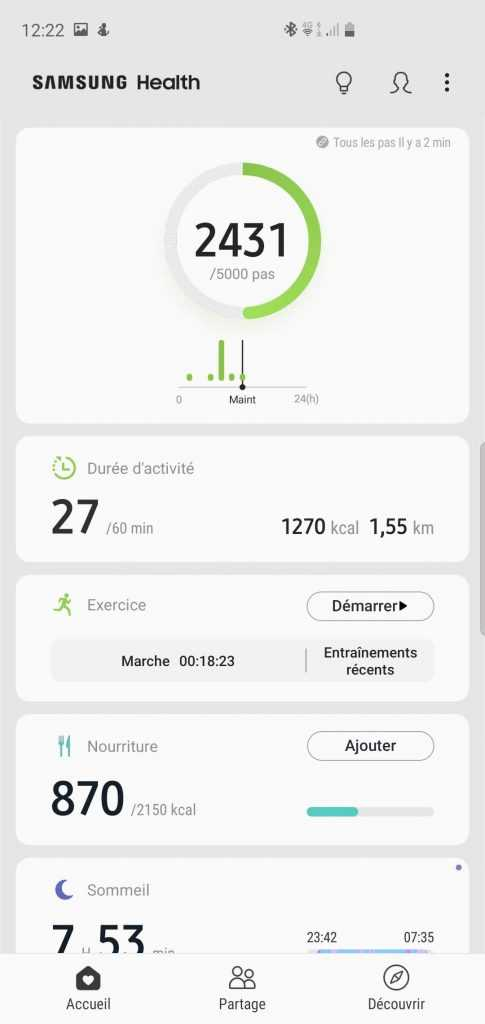 Applications Samsung Health