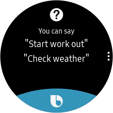Bixby sur Galaxy Watch Active