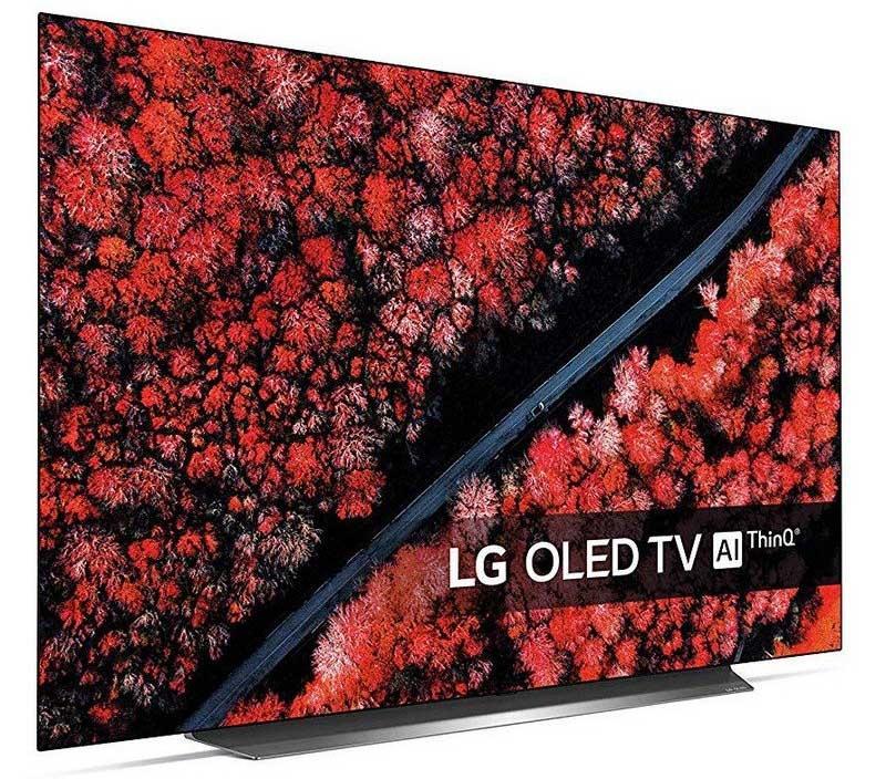 Image latérale du téléviseur intelligent LG OLED55C9PLA