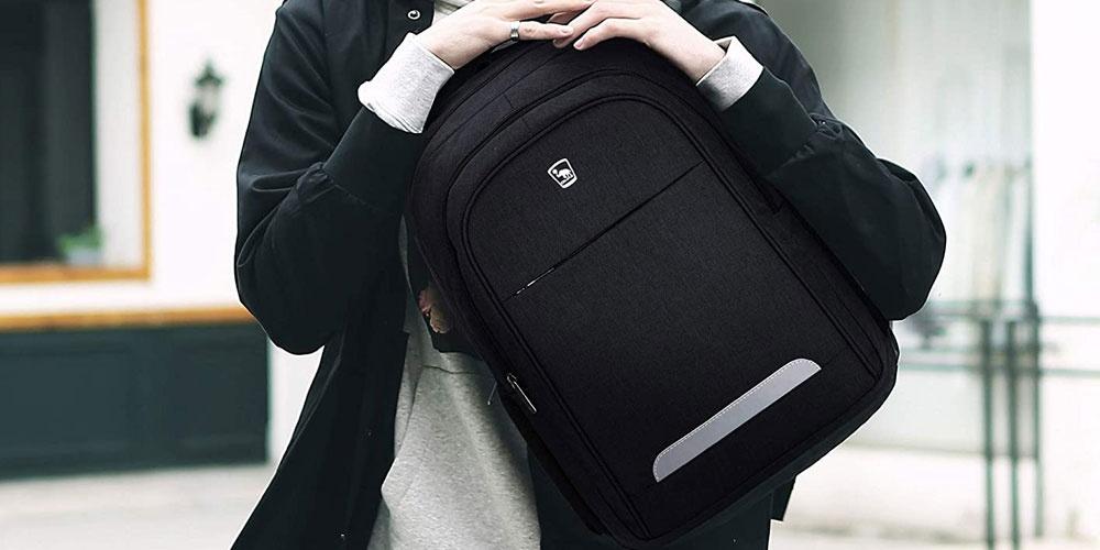 Sac à dos noir pour ordinateur portable