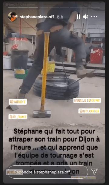 stephane-plaza-retard-tournage-dijon-lyon-story-instagram