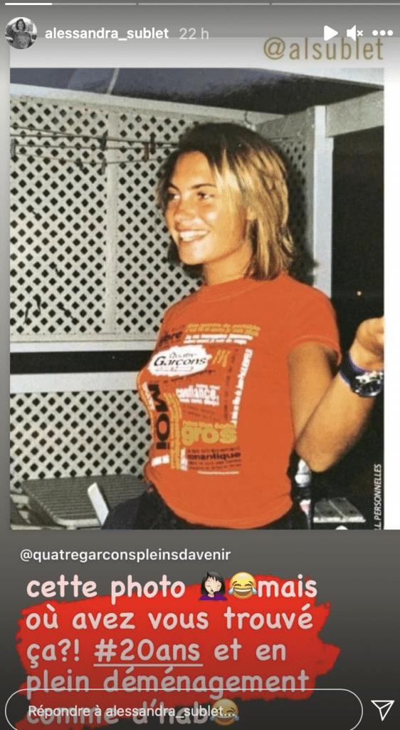 Alessandra Sublet, méconnaissable : elle ressort et dévoile un cliché souvenir d'elle il y plus de 20 ans