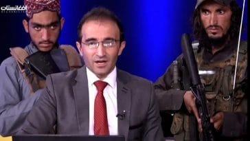 Afghanistan : scène surréaliste, un présentateur télé prend l'antenne entouré de talibans armés