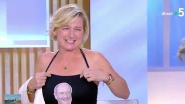 """Anne-Elisabeth Lemoine choque tout le monde par son effeuillage sur le plateau de """"C à vous"""" !"""